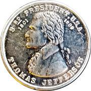 Token - Thomas Jefferson – obverse