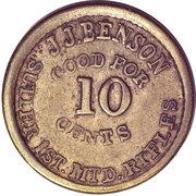 10 Cents - Civil War Token - JJ Benson (1st MTD Rifle Company of New York) – obverse