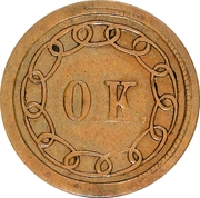 "Cent - Lincoln ""O.K."" Patriotic Civil War Token – reverse"