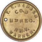 Civil War Dog Tag Token - F.E. Badger  (11th Infantry New Hampshire Volunteers) – obverse