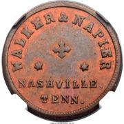 Cent - Civil War Merchant Token - Walker & Napier Barbers (Nashville, TN) – obverse