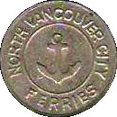 Token - North Vancouver City Ferries – obverse