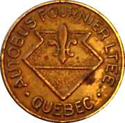 Token - Autobus Fournier LTEE (Quebec; Brass; 17 mm) – reverse