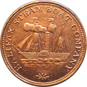 Ferry Token - Halifax Steam boat Company – obverse