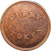 Ferry Token - Halifax Steam boat Company – reverse
