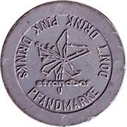 Supermarket deposit token - Pfandmarke (Strandbar) – reverse