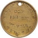 Civil War Dog Tag of Robert H. Johnson - Co D 16th Reg Vermont Volunteers – reverse