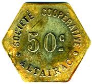 50 Centimes - Société Coopérative Altayrac – obverse