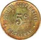 5 Centimes - Société Coopérative Altayrac – obverse