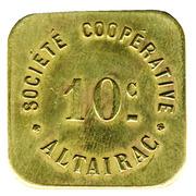 10 Centimes - Société Cooperative Altayrac – obverse