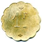1 Franc - Société Coopérative Altayrac – reverse