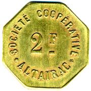 2 Francs (Société Coopérative Altayrac - Alger) -  obverse