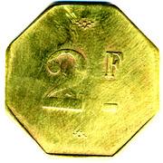 2 Francs (Société Coopérative Altayrac - Alger) -  reverse