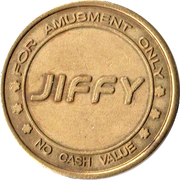 Amusement Token - Jiffy – obverse