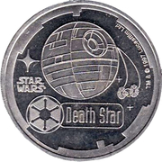 1000 Credits - Star Wars (Death Star) – obverse