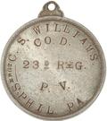 Civil War Dog Tag Token - Cranman S. Williams (23rd Pennsylvania Volunteers) – obverse