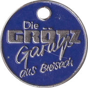 Shopping Cart Token - Die Grötz-Garage – obverse