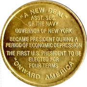 Token - Franklin D. Roosevelt (32nd President) – reverse