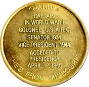 Token - Harry S. Truman (33rd President) – reverse