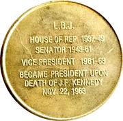 Token - Lyndon Johnson (36th President) – reverse