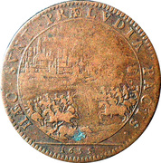 Token - Louis XIV (Libération d'Arras) – reverse