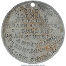 Civil War Dog Tag of August Conrad - 1st New Jersey Infantry – reverse