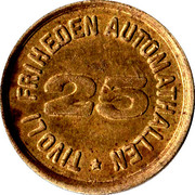 25 Øre - Tivoli Friheden Automathallen – reverse
