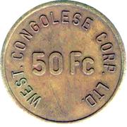 50 Francs - West. Congolese Corp Ltd. – obverse