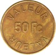 50 Francs - West. Congolese Corp Ltd. – reverse