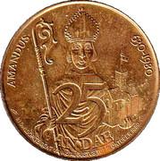 25 Gandae - Gent (Amandus 630-1980) – reverse
