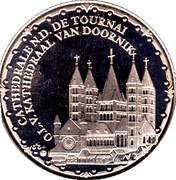 Token - World Heritage (Cathedral of Tournai) – obverse