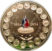 Token - L'Europe des XXVIII (Centenary of the great war 1914-2014) – obverse