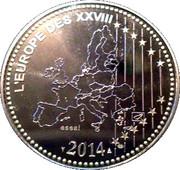 Token - L'Europe des XXVIII (Centenary of the great war 1914-2014) – reverse