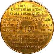 1 Dollar - Ketchum, Idaho (Wagon Days 1960) – reverse