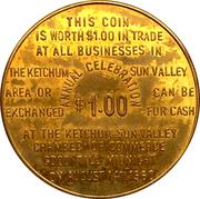 1 Dollar - Ketchum, Idaho (Wagon Days 1960) – reverse