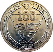 1 Souvenir Dollar - Montana – reverse