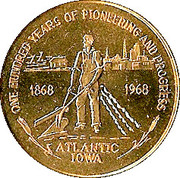 50 Cents - Atlantic, Iowa – obverse