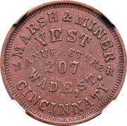 Cent - Civil War Merchant - Marsh & Miner, Vest Manufacturing (Cincinnati, OH) – obverse