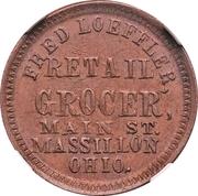 Cent - Civil War Merchant - Fred Loeffler, Grocer (Massillon, OH) – obverse