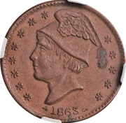 Cent - Civil War Merchant - Fred Loeffler, Grocer (Massillon, OH) – reverse