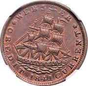 Cent - Hard Times Token - Daniel Webster (Millions for Defence) – obverse