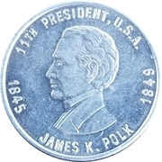 Token - James K. Polk – obverse