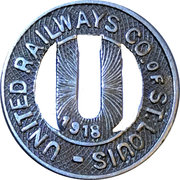 1 City Fare - United Railways Co. of St. Louis (St. Louis, Missouri) – obverse