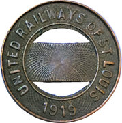 1 Fare - United Railways of St. Louis (St. Louis, MO) – obverse