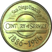 1 Fare - San Diego Transit (San Diego, CA) – obverse