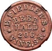 Cent - Civil War Merchant - E. Fiedler's Beer Hall (Cincinnati, OH) – obverse