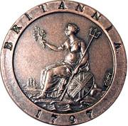 Replica - 1797 Britannia Penny – reverse