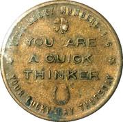 Token - Your Lucky Numbers (Sagittarius) – reverse