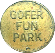 Token - Gofer Fun Park – obverse