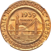 Token - Golden Gate Exposition – reverse
